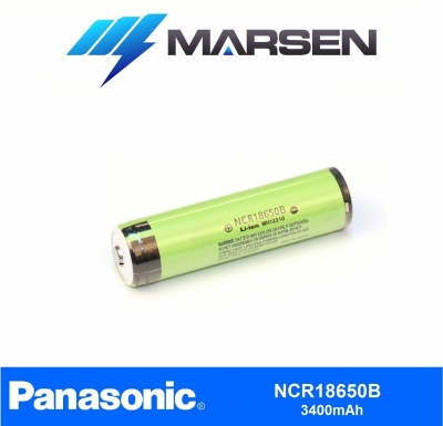 Panasonic NCR18650B 3.7V 3400mAmh Protected Li ion battery