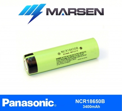 Panasonic NCR18650B 3400mAh Lithium Ion battery Marsen Energy