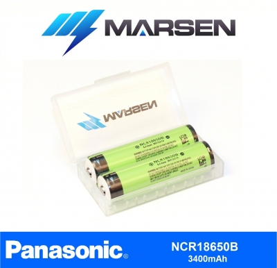 Panasonic NCR18650B 3400mAh protected in case