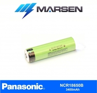 Panasonic NCR18650B 3400mAh 3.6V button top