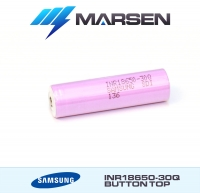 Samsung INR18650 30Q 3000mAh 3.6V Li ion battery button top